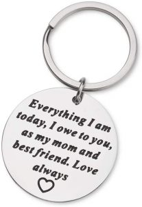 Mom To Daughter You Will Never Lose Personalized Keychain